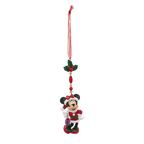 Minnie Mouse Christmas Dangle Decoration, Disneyland Paris