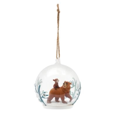 Brother Bear Glass Christmas Decoration, Disneyland Paris