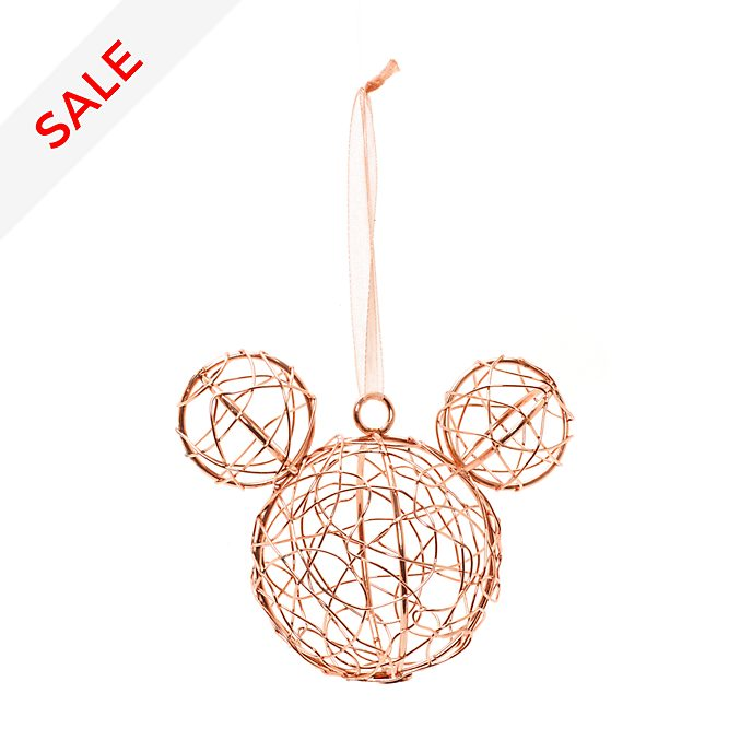 Disneyland Paris Mickey Mouse Icon Rose Golden Bauble