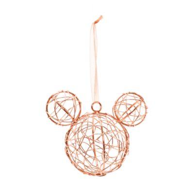Decoración navideñaoro rosaMickey Mouse, Disneyland Paris