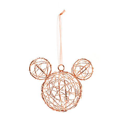 Mickey Mouse Rose Gold Christmas Decoration, Disneyland Paris