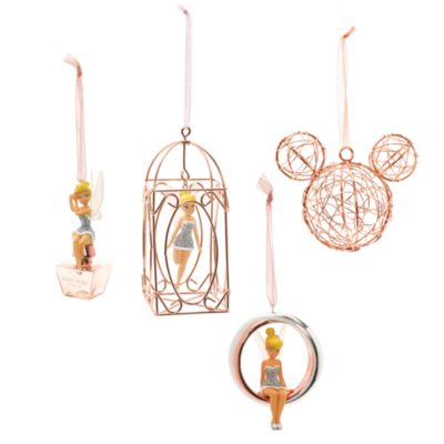 Tinker Bell Rose Gold Cage Christmas Decoration, Disneyland Paris