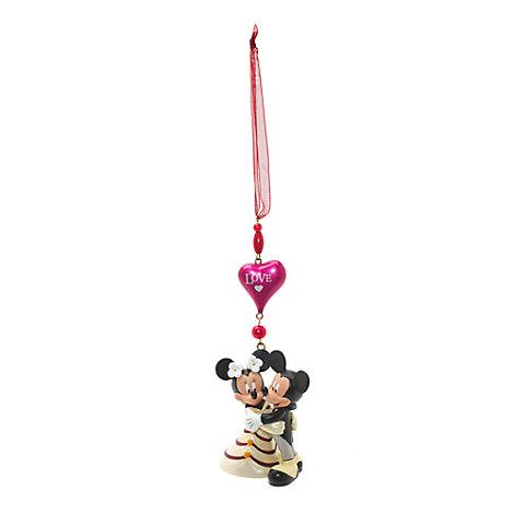 Mickey and Minnie Wedding Hanging Ornament, Disneyland Paris