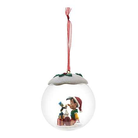 Pinocchio and Jiminy Cricket Bauble