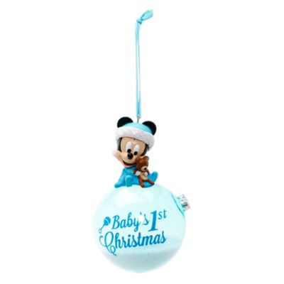 Mickey Mouse Baby's First Christmas julepynt