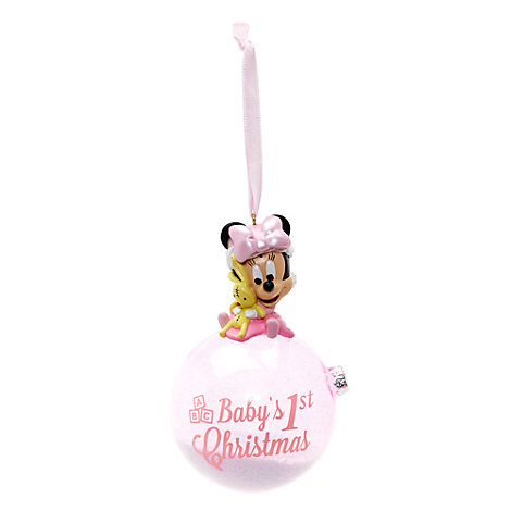 Objet décoratif ''Baby's First Christmas'' Minnie Mouse