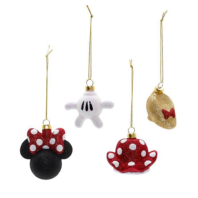 Minnie Maus - Weihnachts-Kugeln; 4er-Set
