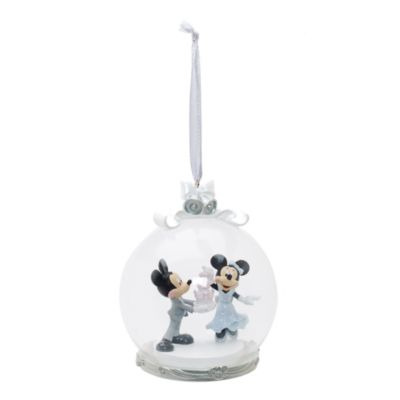 Mickey and Minnie Mouse Hanging Wedding Cake Ornament