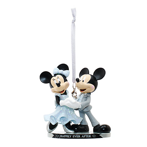 Mickey and Minnie Mouse Hanging Wedding Ornament