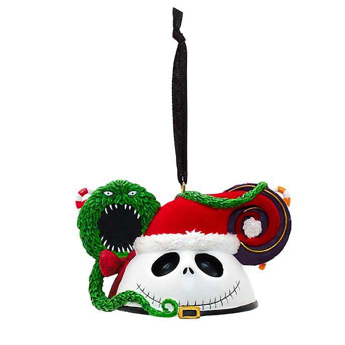 Jack Skellington - Hängendes Dekorationsstück mit Micky Maus Ohren für Weihnachten