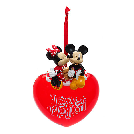 Mickey and Minnie Mouse Love Hanging Ornament