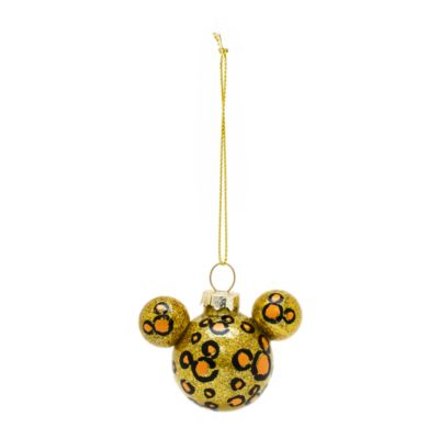 Mickey Silhouette Animal Print Baubles, Set of 6