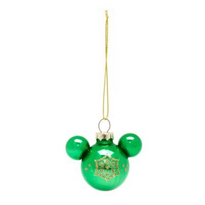 Set de 6 bolas de Navidad multicolor de siluetas de Mickey