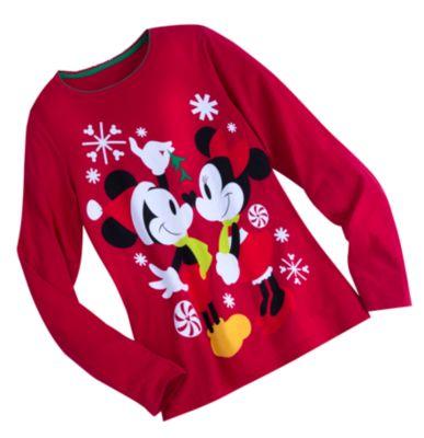 Mickey And Minnie Mouse Ladies Christmas Pyjamas