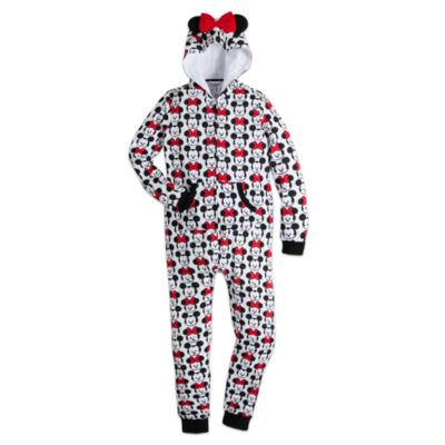 Mickey and Minnie Mouse MXYZ Ladies' Hooded All-In-One Pyjamas