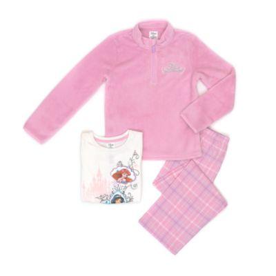 Disney Prinsesse 3-delt pyjamassæt til børn