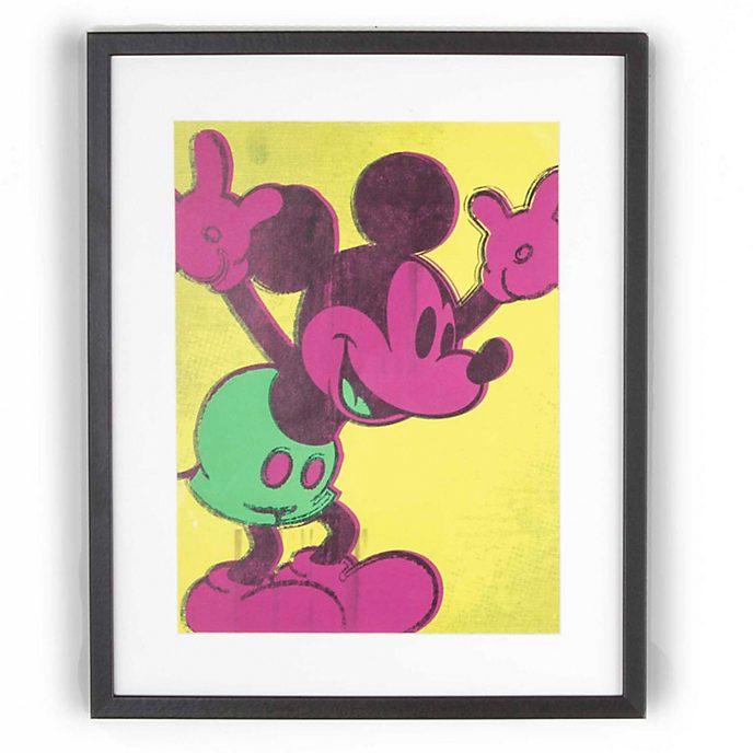 Póster enmarcado Mickey en tonos neón de Graham & Brown