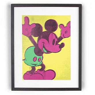Graham & Brown Poster encadré Mickey fluo