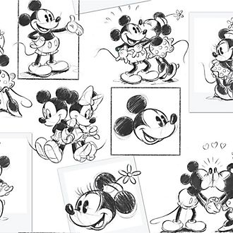 Graham & Brown Mickey and Minnie Mouse Wallpaper
