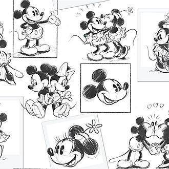 Mural Mickey y Minnie Mouse de Graham & Brown