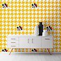 Kelly Hoppen papel pintado Mickey Mouse pata de gallo amarillo