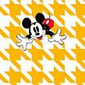 Kelly Hoppen Papier peint Mickey Mouse pied-de-poule jaune