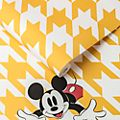 Kelly Hoppen Mickey Mouse Yellow Houndstooth Wallpaper