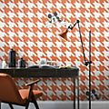 Kelly Hoppen papel pintado Mickey Mouse pata de gallo naranja