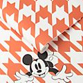 Kelly Hoppen Mickey Mouse Orange Houndstooth Wallpaper