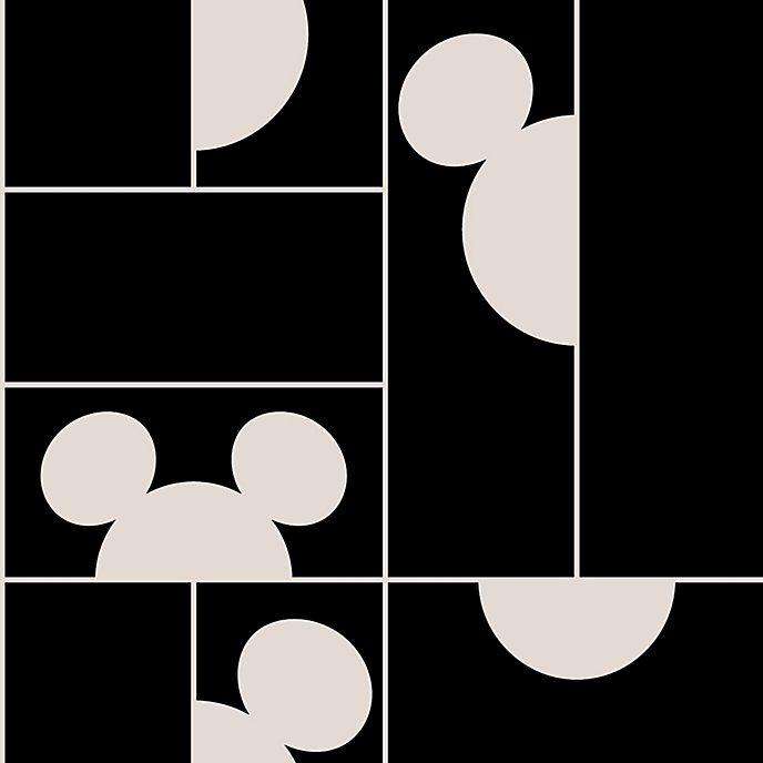 Kelly Hoppen - Micky Maus - Tapete mit Mosaikmuster in Schwarz