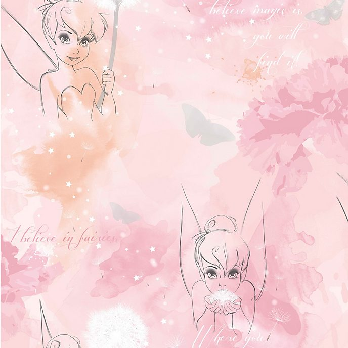 Graham & Brown Tinker Bell Watercolour Wallpaper