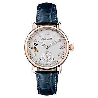 Ingersoll - Micky Maus - Armbanduhr mit blauem Lederarmband