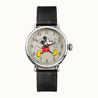 Ingersoll Mickey Mouse Black Leather Watch