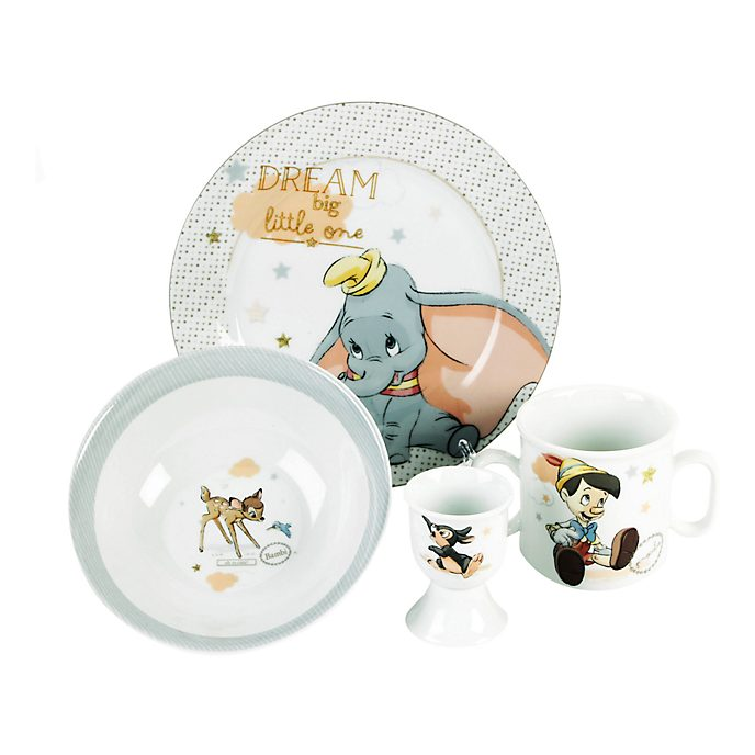 Service de vaisselle Bambi, Dumbo et Pinocchio pour bébés