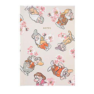 Cath Kidston x Disney - A5 Notizbuch mit Zwerge- und Blütenmuster