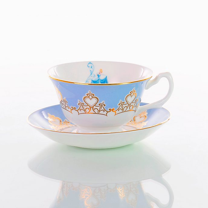 English Ladies Co. set taza de té y platito porcelana de ceniza de hueso La Cenicienta
