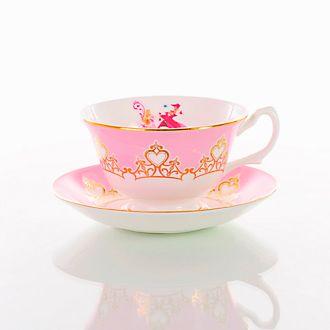 English Ladies Co. Tasse et soucoupe La Belle au Bois Dormant en porcelaine fine