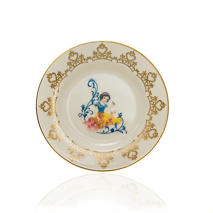 English Ladies Co. Plato de coleccionista porcelana de ceniza de hueso Blancanieves