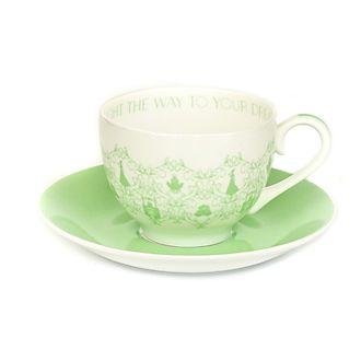 Platito y taza de té porcelana ceniza hueso Tiana, English Ladies Co.
