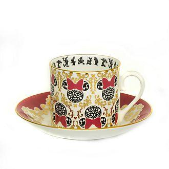 Tazza da tè e piattino in porcellana in stile moderno Minni English Ladies Co.
