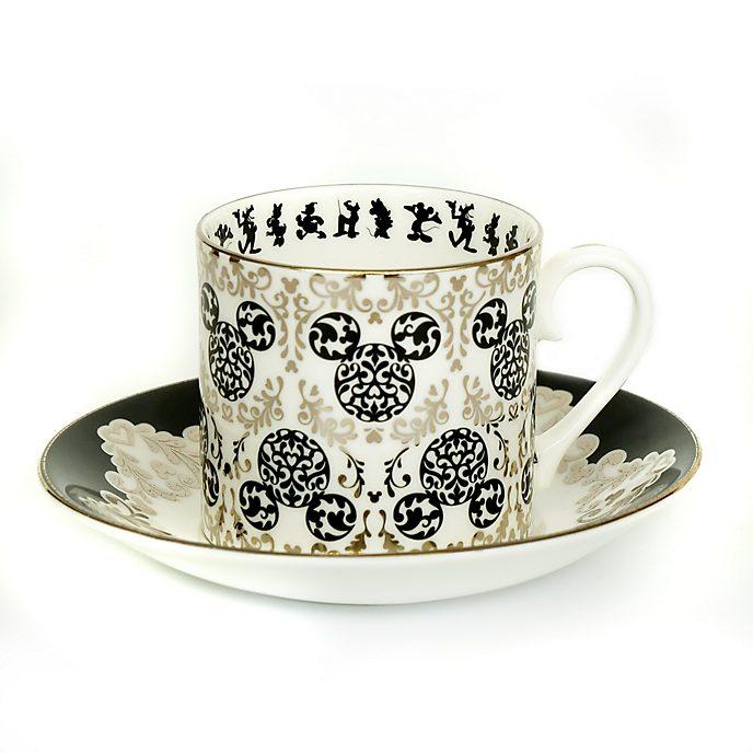 English Ladies Co. Bone China Vintage Mickey Tea Cup and Saucer