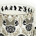 English Ladies Co. Tasse et soucoupe Minnie vintage en porcelaine fine