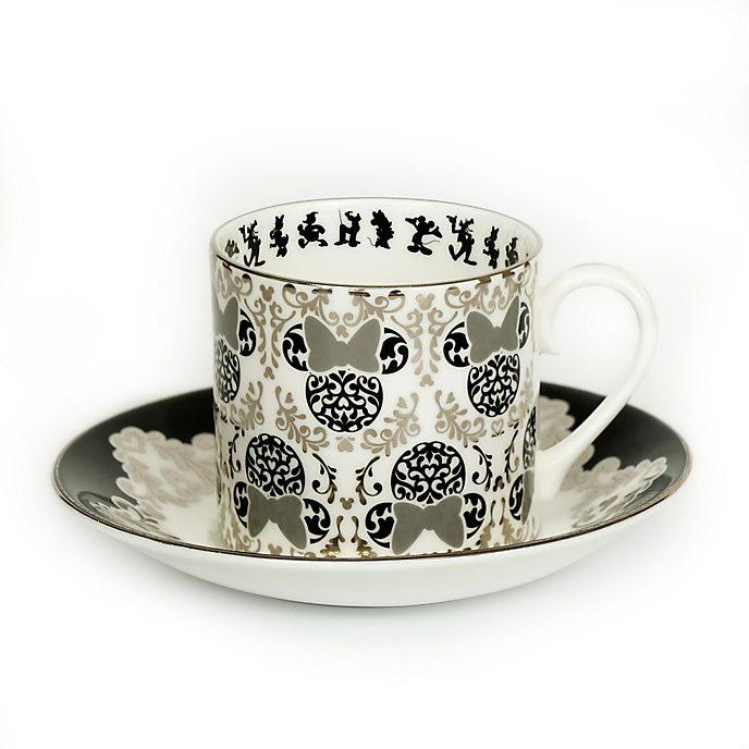 Taza té y platito porcelana ceniza hueso Minnie vintage, English Ladies Co.