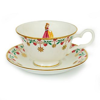 English Ladies Co. Bone China Winter Belle Tea Cup and Saucer