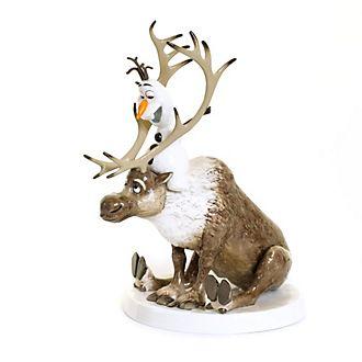 English Ladies Co.Figurine Olaf et Sven en porcelaine fine, La Reine des Neiges