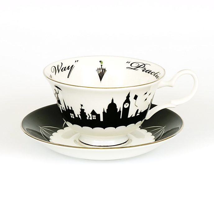 English Ladies Co. Bone China Mary Poppins Skyline Tea Cup and Saucer