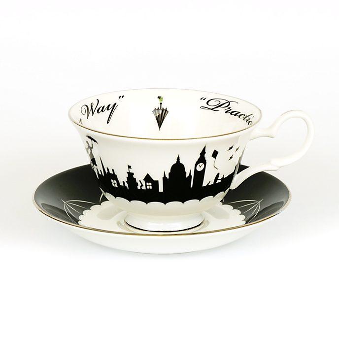 English Ladies Co. - Mary Poppins - Teetasse und Untertasse aus feinstem Porzellan mit Skyline-Motiv