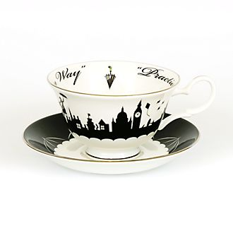 English Ladies Co. Tasse et soucoupe Mary Poppins au-dessus de Londres en porcelaine fine