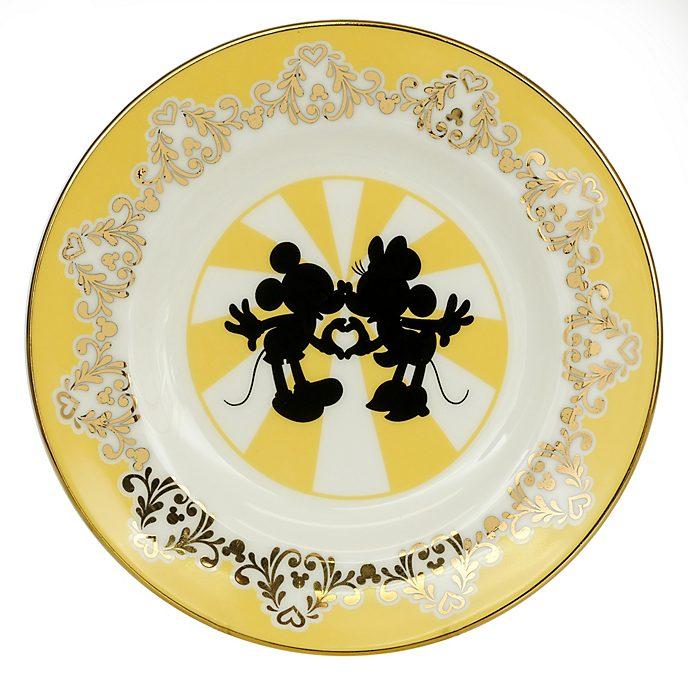 English Ladies Co. Assiette Mickey et Minnie moderne en porcelaine fine