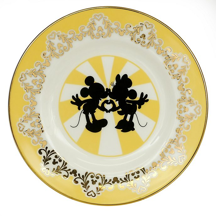 English Ladies Co. Bone China Modern Mickey and Minnie Plate